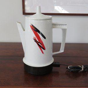 Regal Poly Perk 8 Cup Electric Percolator, Working Vintage Coffee Maker